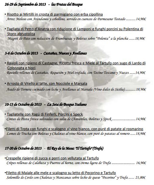 Jornadas gastronómicas otoñales, Nonsolocaffè