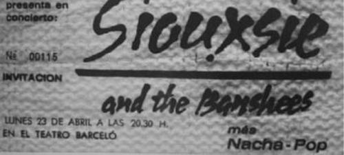 Entrada-concierto.Siouxsie