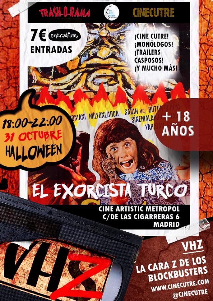 Cartel VHZ Edicion Satanica. Cine Cutre