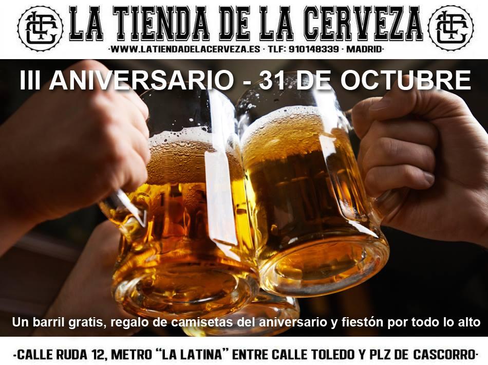 III Aniversario La Tienda de la Cerveza