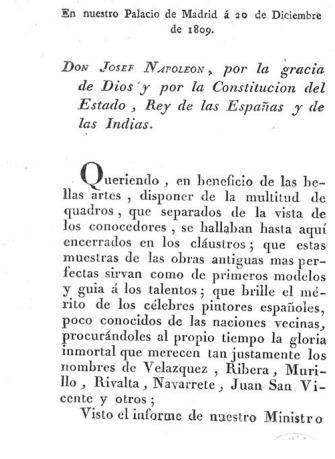 Decreto Museo Josefino- Preambulo