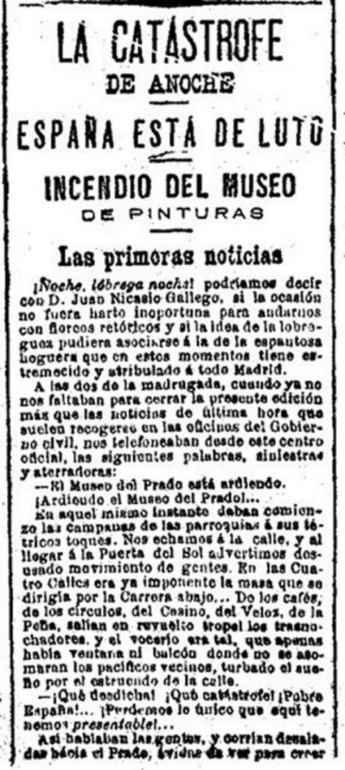 Incendio Museo del Prado