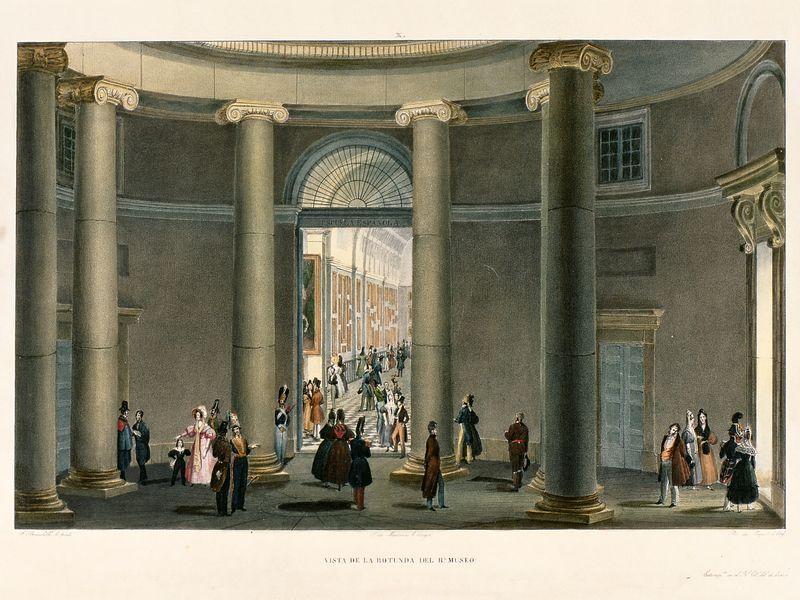 Vista de la rotonda del Real Museo