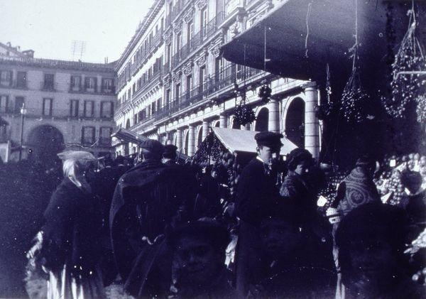 1910. Navidad Plaza Mayor