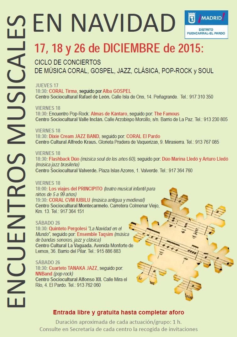 Conciertos Centros Culturales