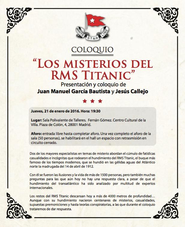 Conferencia Titanic