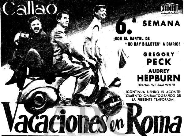 Vacaciones en Roma Cine Callao