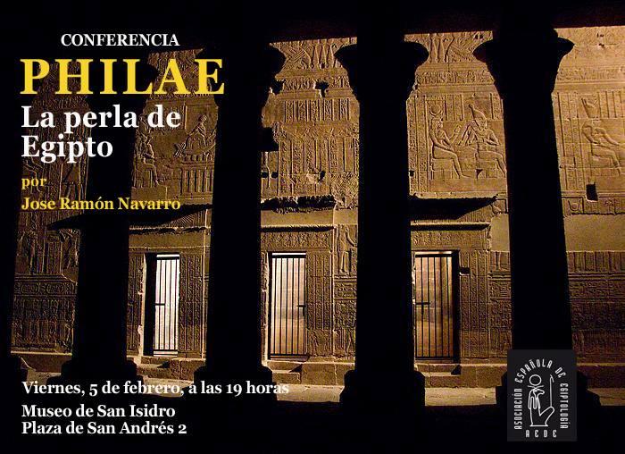 Conferencia Philae La Perla de Egipto