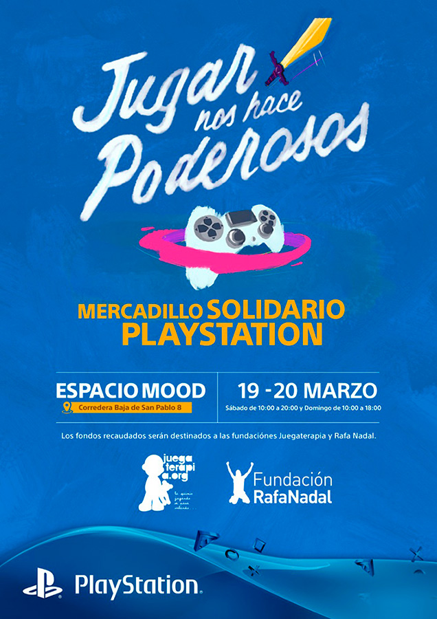 mercadillo-solidario-playstation- Madrid