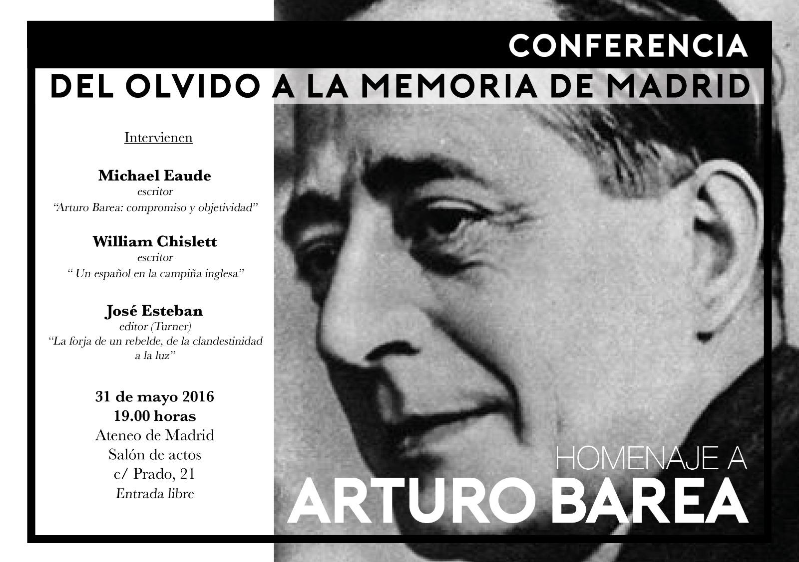 Conferencia Arturo Barea