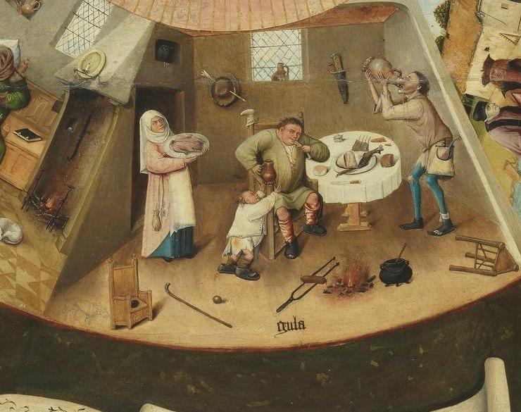 La Gula- Mesa de los Siete pecados capitales Bosco