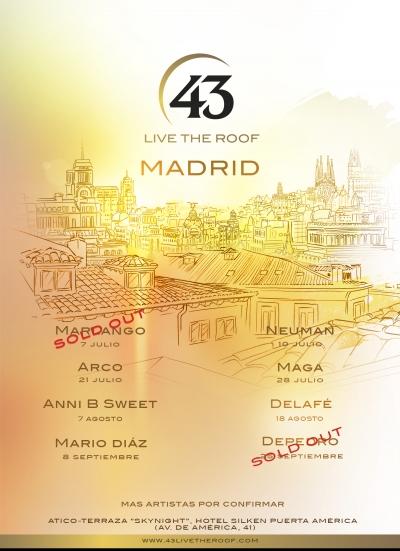Ciclo de conciertos en azoteas live the roof un sereno for Azoteas madrid