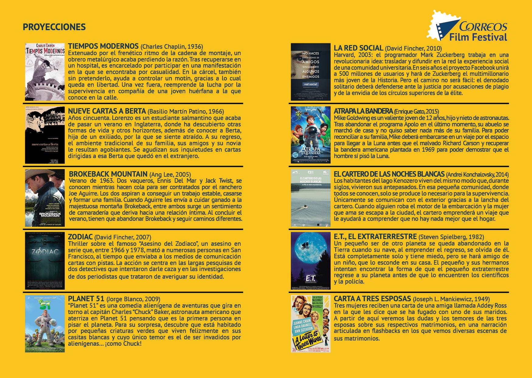 Peliculas Correos film festival