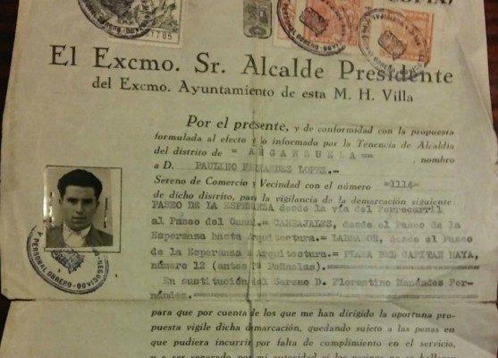 El sereno que rondó por Arganzuela durante casi 20 años: Paulino Fernández López