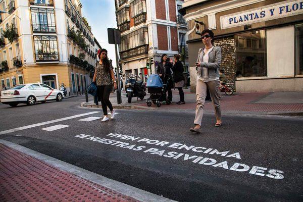 Versos para los pasos de cebra de Madrid