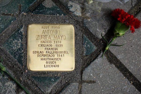 Las piedras de la memoria que recuerdan a los deportados españoles en los campos de concentración nazis