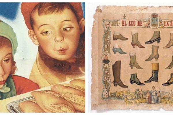 Los antiguos carteles de los comercios madrileños en exposición en Conde Duque